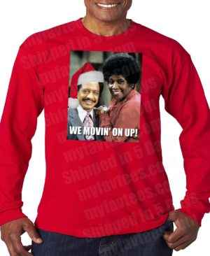 Jeffersons Ugly Christmas Sweater Long Sleeve T Shirt
