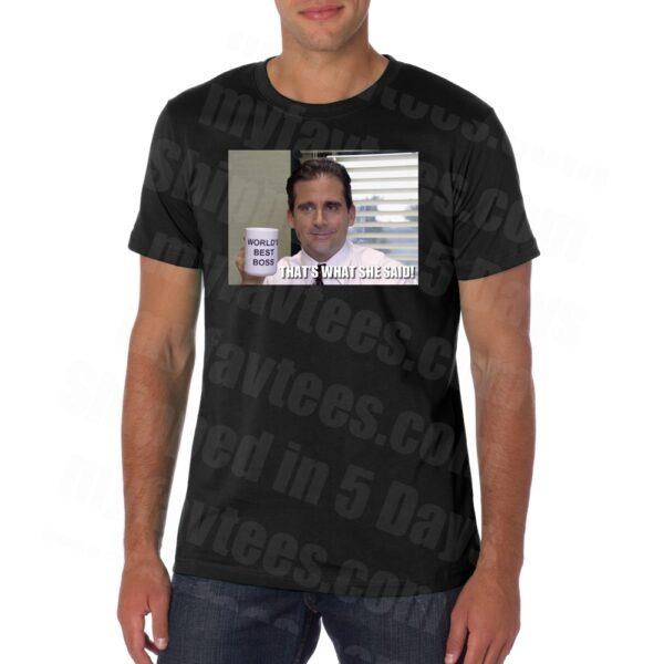 Michael Scott Worlds Best Office Boss T Shirt